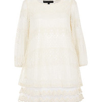 Mela Cream Lace Tunic Dress