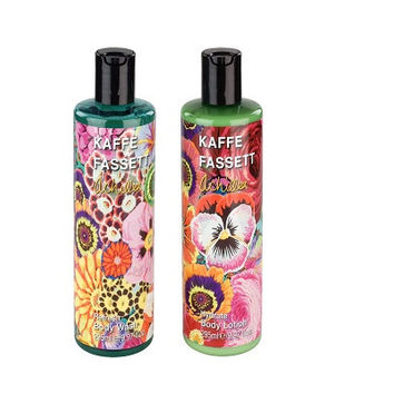 Kaffe Fassett Achillea Revitalise Body Wash & Lotion Duo - 2 x 295ml. is a celebrated textile and contemporary craft practitioner who is renowned for his use of colour,