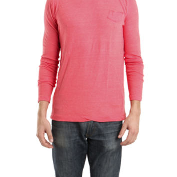 V::ROOM Long Sleeve Air-Knit Crew Neck in Red