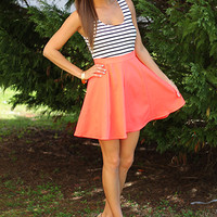 Spin Me Round Dress, neon coral