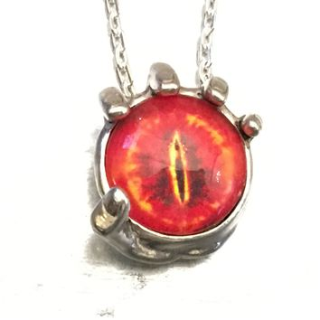 Eye of Sauron Necklace, In the Palm of My Hand Necklace, Evil Eye Necklace, Vision Necklace, Holiday Gift