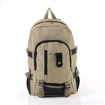 Men Vintage Canvas Backpack Girl Women Bookbag Laptop Satchel Backpacks Travel Hiking Bags Rucksack School Bags For Teenagers