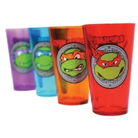 Just Funky Teenage Mutant Ninja Turtles 4-pc. Pint Glass Set (Red)