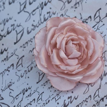 Pink Hair Rose, Rose Flower Hair Clip, Light Pink Hair Flower, Bridal Rose Hair Clip, Blush Pink Hair Flower