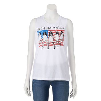 Fifth Sun ''Fifth Harmony'' Patriotic Juniors' Muscle Tee, Size: