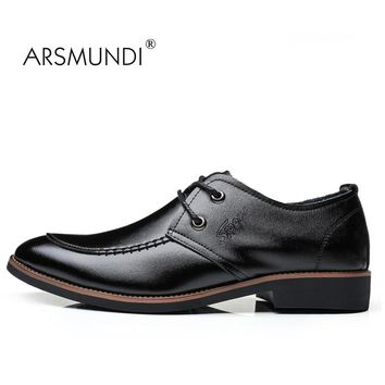 ARSMUNDI Original Men Casual Shoes Fall 2017 Man's Casual Shoes Genuine Leather Breathable Waterproof Mens Casual Shoes JZ-667