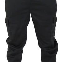 Phat Farm Men's Drawstring Waist Cargo Sweatpants Joggers
