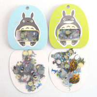About 60pcs pack Cute Japan Migazaki Animation Totort decorative transparent sticker free shiping