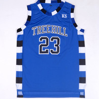 Nathan Scott 23 One Tree Hill Ravens Basketball Jersey Blue