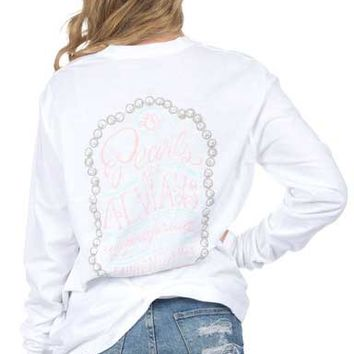 Lauren James Sweet Tee Collection Pearls Are Always Appropriate Long Sleeve Tee PEARLSALWAYS-LS