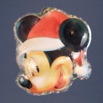 Mickey Mouse Christmas Yard Art - Holographic Backing