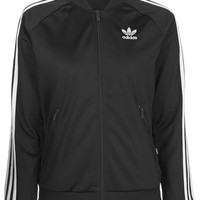 Black Firebird Tracksuit Top by adidas Originals - Topshop