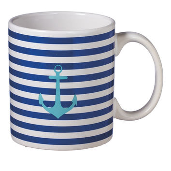 Anchor Striped Coffee Tea Mug