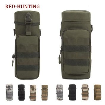 Tactical Water Bottle Pouch Insulation Military Molle Pack Gear Waist Back Pack
