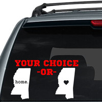 Mississippi State Home Decal / I love Mississippi Decal / State Home Decal / Car Decal / State Sticker / Car Sticker