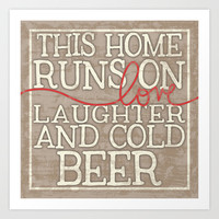 Love, Laughter and Beer Art Print by Misty Diller of Misty Michelle Design