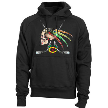 Chicago BLACKHAWKS Hoodie Indian Skull Stanley Cup Shirt Blackhawks T Shirt Sweatshirt