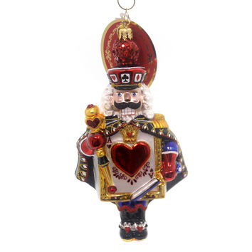 Christopher Radko DEAL FROM THE DECK CRACKER Nutcracker Ace Hearts 1018494