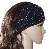 Sparkling Rhinestone and Dots Wide Elastic Headband