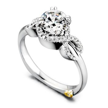 Mark Schneider Infinity 1.11cttw prong set round diamond engagement ring