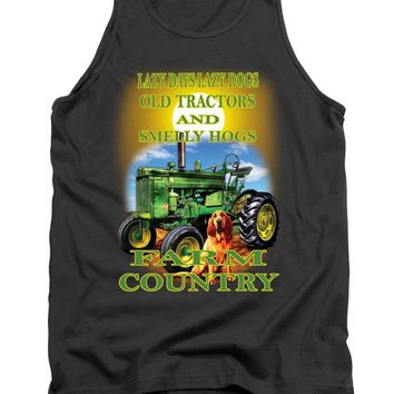 Lazy Days Tractor Farm Country - Tank Top