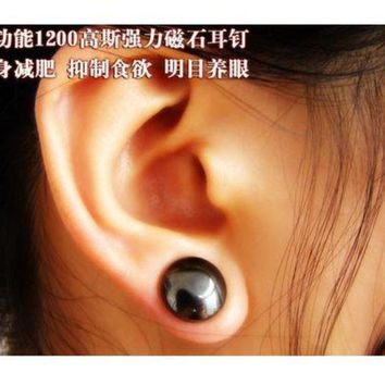 ac PEAPO2Q New  arraive Topseller ear magnet massager Healthy Acupoints weight loss earrings magnet in ear eyesight slimming