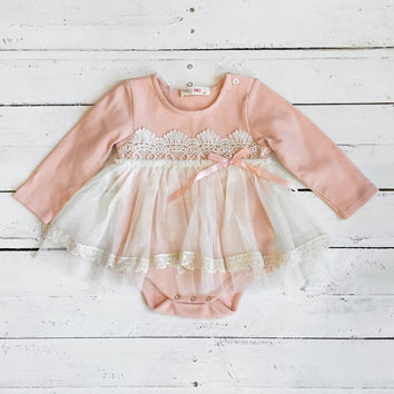 Little Dreamer Onesuit - Dusty Pink