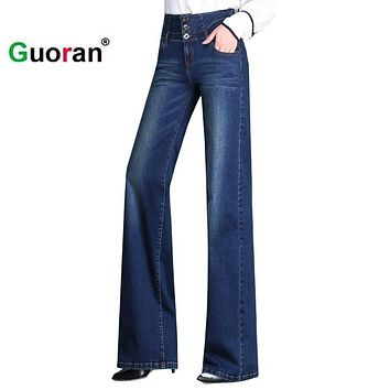 *online exclusive* high waist wide leg trouser jeans