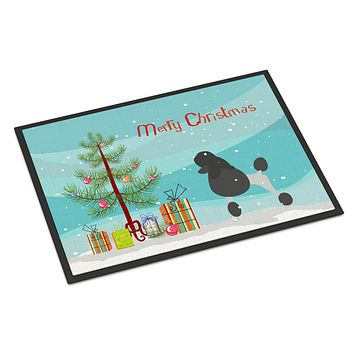 Poodle Merry Christmas Tree Indoor or Outdoor Mat 24x36 BB2957JMAT