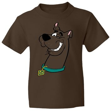Scooby Dooby Doo on a Brown T Shirt