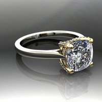 Forever Brilliant Moissanite and Diamonds Engagement Ring 2.65 CTW