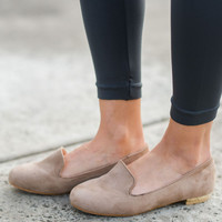 The Harper Loafer Flat In Taupe