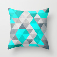 Blue whales Throw Pillow by DesignfromKiD
