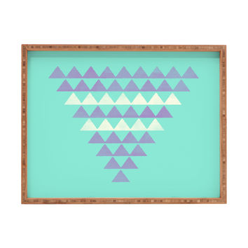 Allyson Johnson Purple Triangles Rectangular Tray