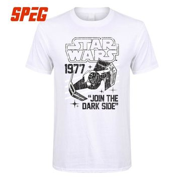Star Wars Force Episode 1 2 3 4 5  Join The Dark Side I Want You To 2017 Summer Men's T-Shirts Relaxed Vintgae T shirt Homme Fashion Tees Brand Clothing AT_72_6
