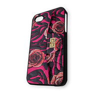 Chanel Wallet Rose Black Pink iPhone 4/4S Case