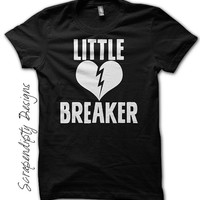 Boys Valentine Shirt - Little Heart Breaker Shirt / Toddler Valentine Outfit / New Baby Clothes / Kids Girls Broken Heart Tshirt / Black Tee