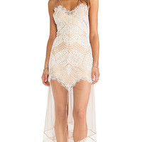 For Love & Lemons Antigua Maxi Dress in White