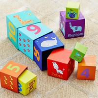Animals and Numbers Stacking Cubes