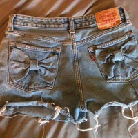 Classic Vintage Jean BOW Levi High Waist Shorts