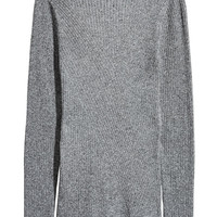 Mock-turtleneck Sweater - Grey - Ladies | H&M US