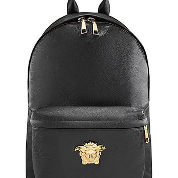 Versace - Peccary and leather backpack