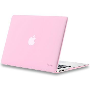 "Kuzy - AIR 13-inch Baby PINK Rubberized Hard Case for MacBook Air 13.3"" (A1466 & A1369) (NEWEST VERSION) Shell Cover - Rose PINK"