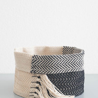 Black Hemp Basket - Large