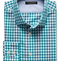 Banana Republic Mens Slim Fit Non Iron Multi Gingham Shirt