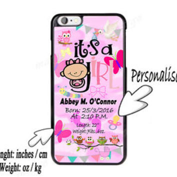 New Custom order It's a Girl Cute Baby Shower Girl Case Cover for iPhone Samsung