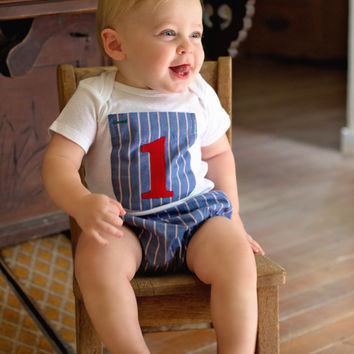 Cake Smash Baby Boy Outfit - Boys Birthday Outfit - Upcycled Dad Shirt - Boys 1st Birthday - Photo Prop - First Birthday Outfit