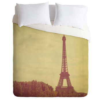 Happee Monkee Eiffel Tower Duvet Cover