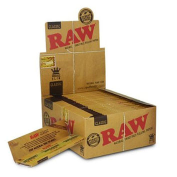 "Raw ""Classic"" Kingsize Slim Rolling Papers"