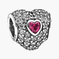 Women's PANDORA 'In My Heart' Pave Heart Charm